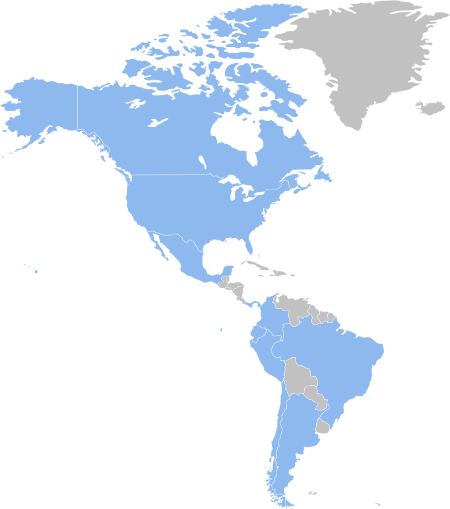 Americas map outsourcing services HR Payroll