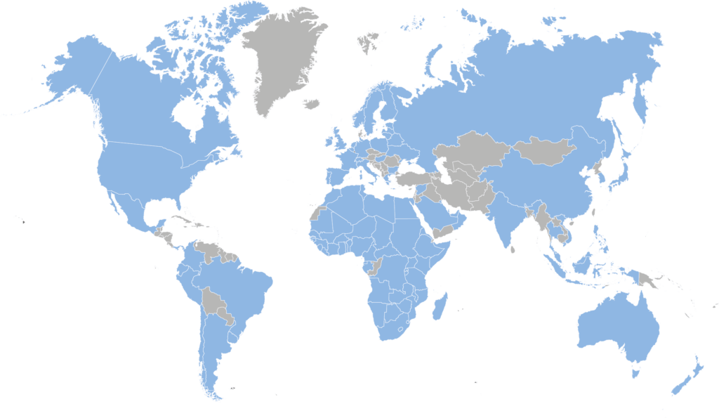 World Map Coverage One Stop Solution Black Mountain HR