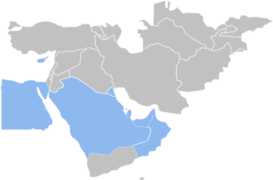middle east hr payroll outsourcing map